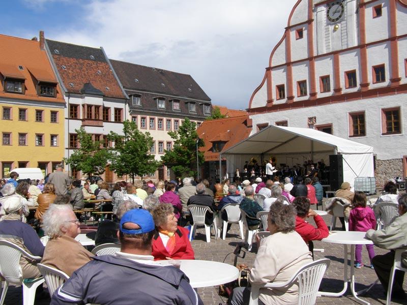 Muttertagskonzert auf dem Grimmaer Marktplatz am 11.05.2014