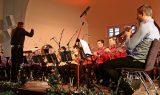 Etwa 150 Besucher erlebten im Saal des Soziokulturellen Zentrums ein mitreißendes Neujahrskonzert des Jugendblasorchesters Grimma. Foto: Frank Prenzel