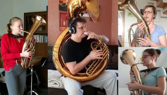 Musiker vom JBO Grimma bei den Aufnahmen zum Home-Video Foto: JBO Grimma